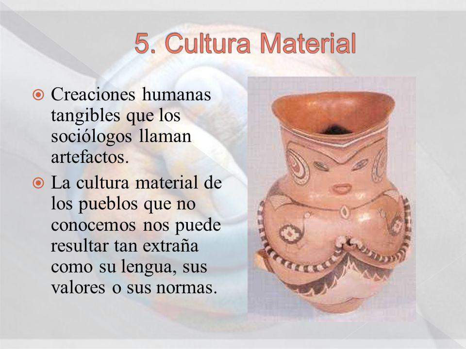 Creaciones humanas tangibles que los sociólogos llaman artefactos. La cultura material de los pueblos que no conocemos nos puede resultar tan extraña