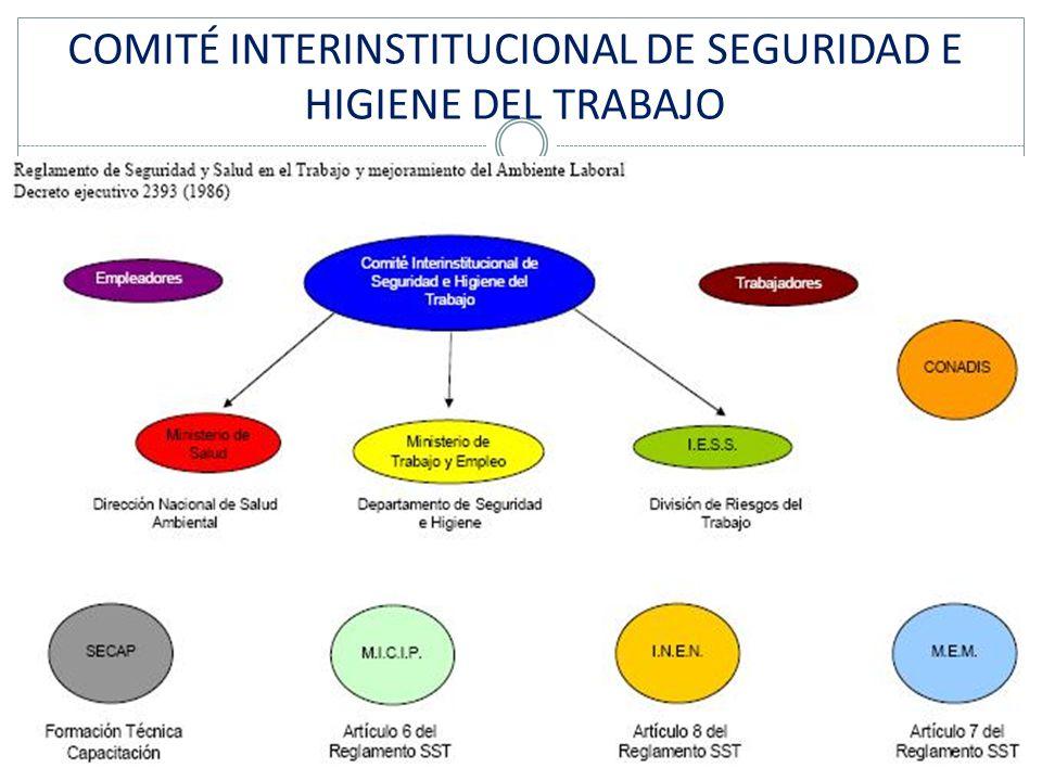 COMITÉ INTERINSTITUCIONAL DE SEGURIDAD E HIGIENE DEL TRABAJO
