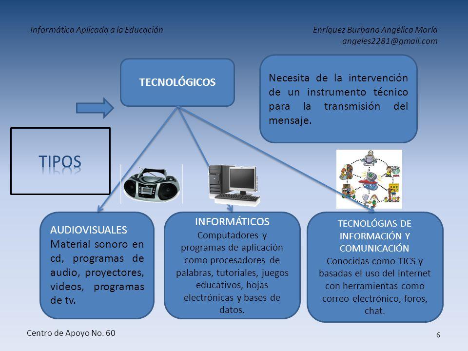 Informática Aplicada a la EducaciónEnríquez Burbano Angélica María angeles2281@gmail.com Centro de Apoyo No. 60 5 PRETECNOLÓGICOS Utilizados por el do