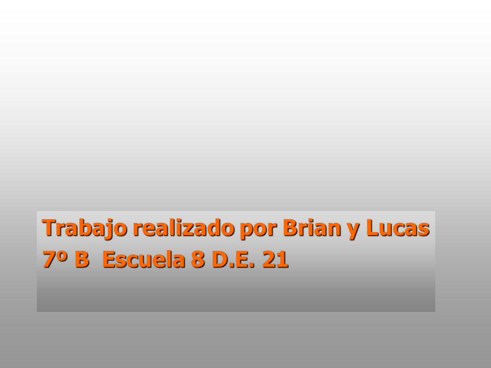 Trabajo realizado por Brian y Lucas 7º B Escuela 8 D.E. 21