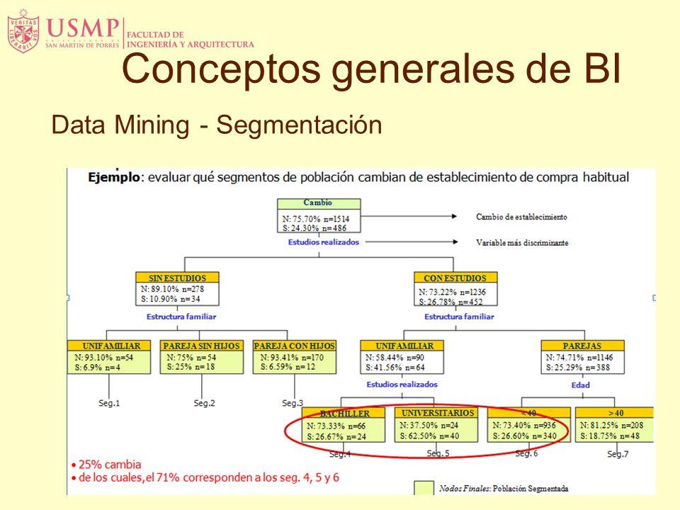 Data Mining - Segmentación Conceptos generales de BI