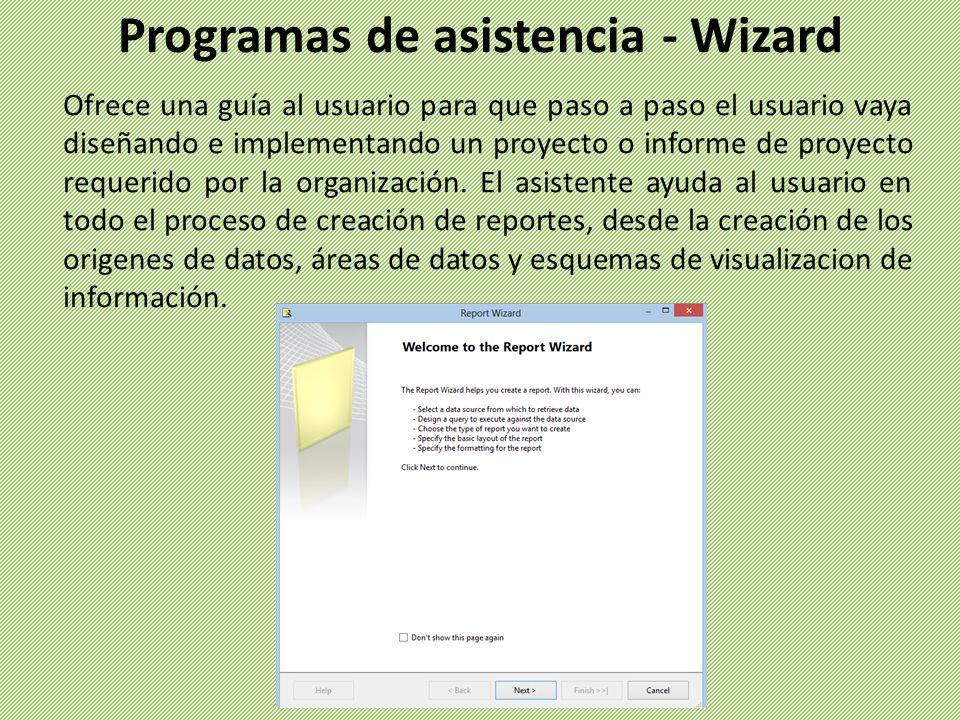 Ofrece una guía al usuario para que paso a paso el usuario vaya diseñando e implementando un proyecto o informe de proyecto requerido por la organizac