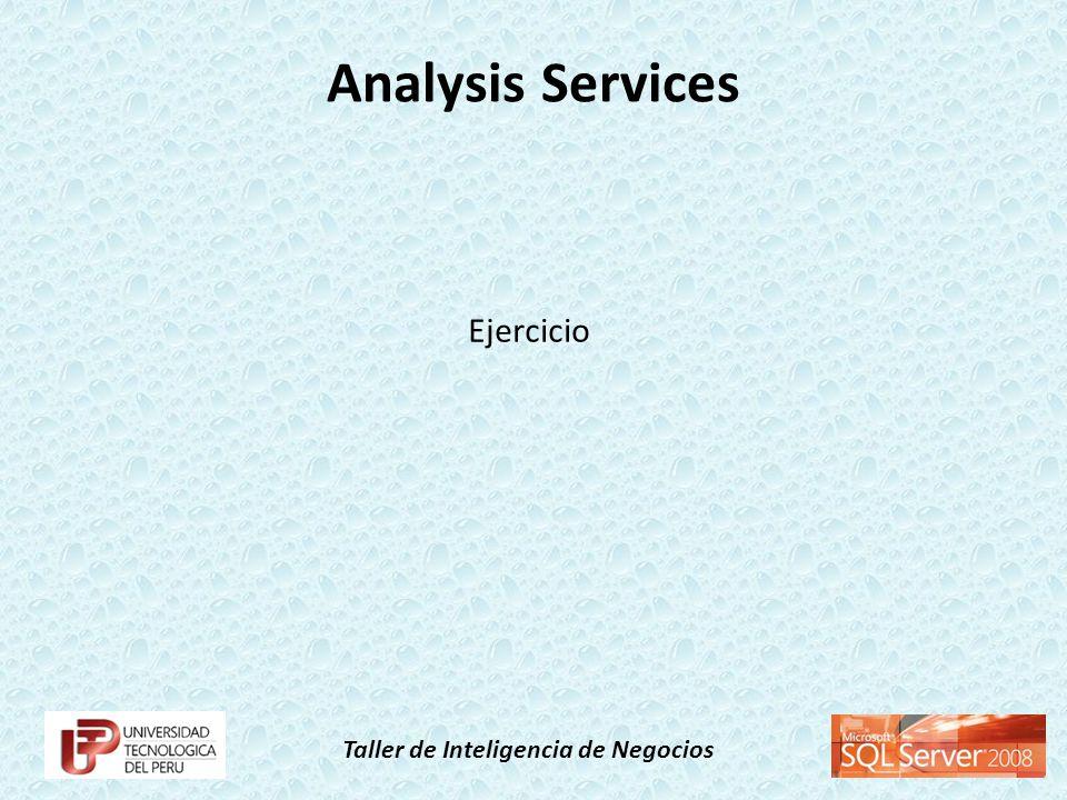 Taller de Inteligencia de Negocios Analysis Services Ejercicio