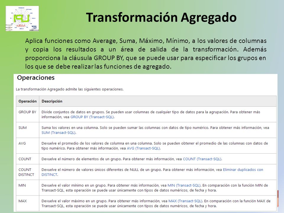 Taller de Inteligencia de Negocios Ordena los datos de entrada en sentido ascendente o descendente, y copia los datos ordenados a la salida de transformación.