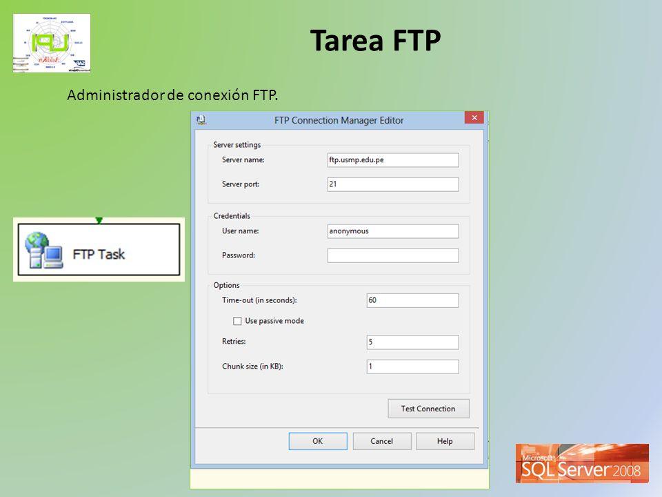 Taller de Inteligencia de Negocios Tarea FTP La tarea FTP incluye un conjunto predefinido de operaciones.