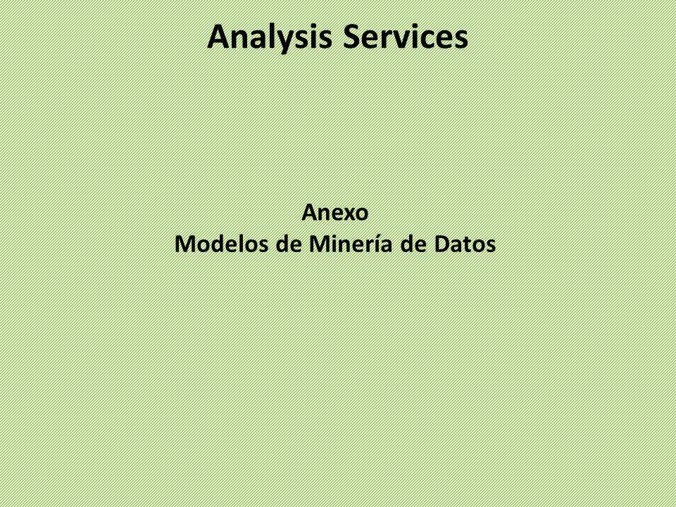 Analysis Services Anexo Modelos de Minería de Datos