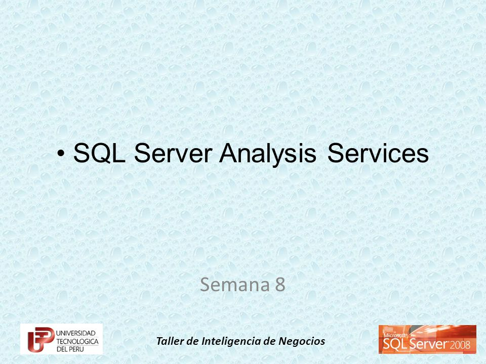 Taller de Inteligencia de Negocios SQL Server Analysis Services Semana 8