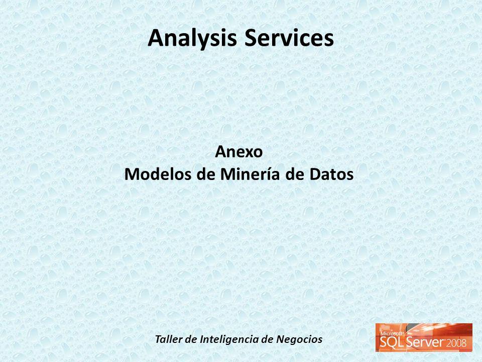 Taller de Inteligencia de Negocios Analysis Services Anexo Modelos de Minería de Datos