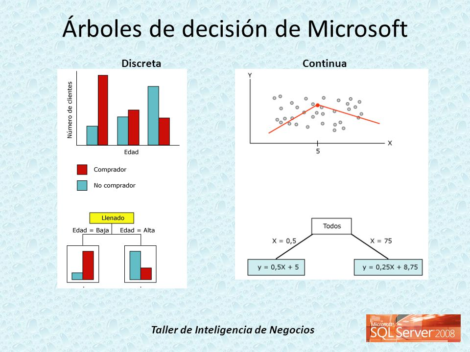Taller de Inteligencia de Negocios Árboles de decisión de Microsoft DiscretaContinua