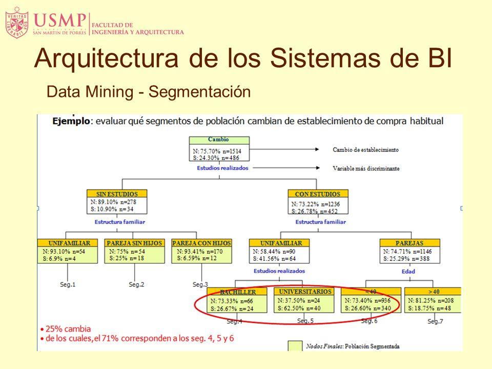Data Mining - Segmentación Arquitectura de los Sistemas de BI