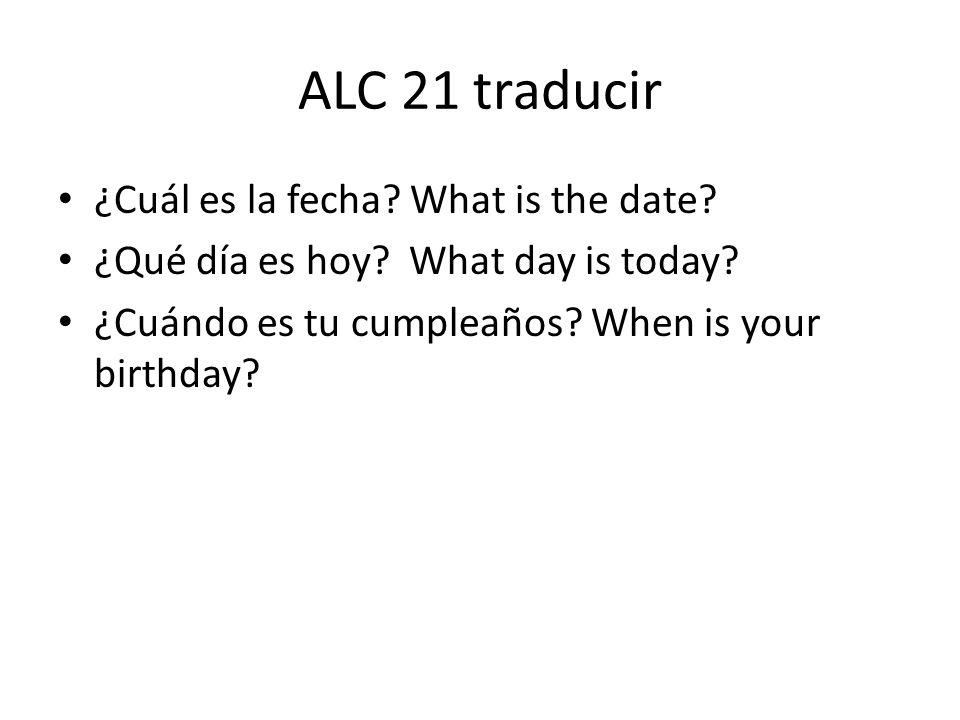 Escribe la fecha de hoy.