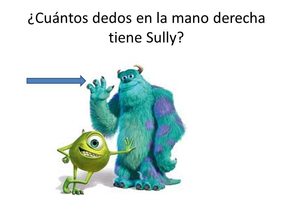 ¿Cuántos dedos en la mano derecha tiene Sully?