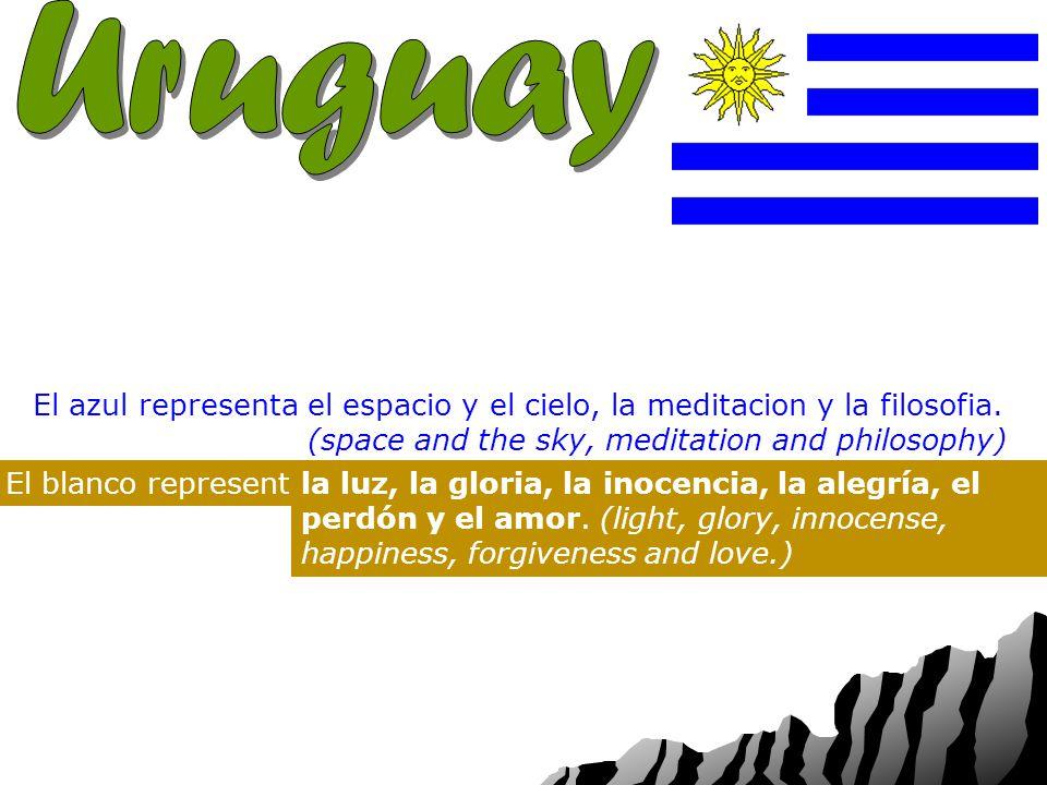 Capital: Nacionalidad: Bandera: Los colores de la bandera de Uruguay son azul, blanco.