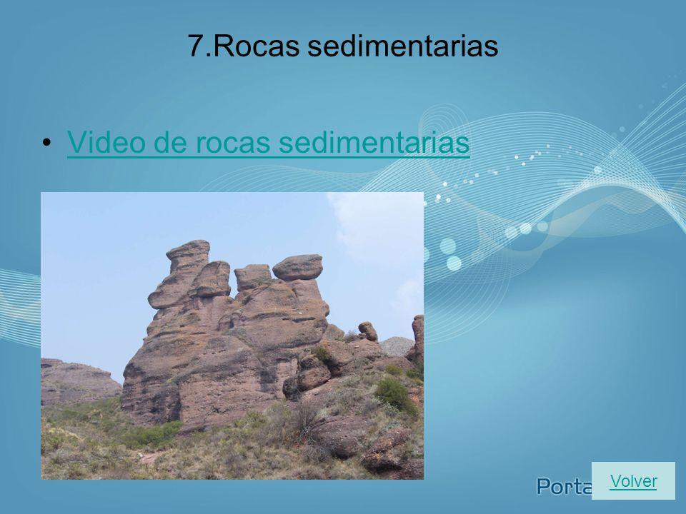 Formaciones características en la costa Volver