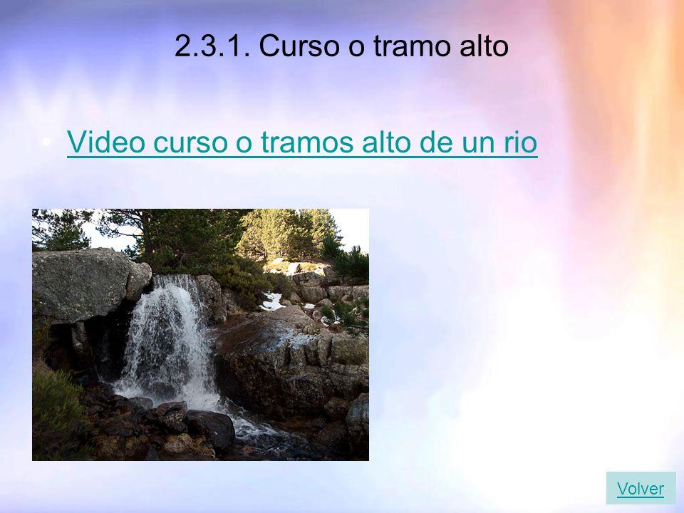 2.3.1. Curso o tramo alto Video curso o tramos alto de un rio Volver