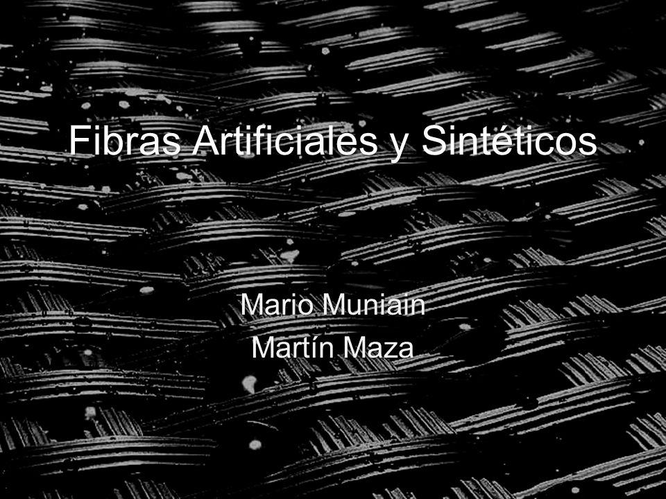 Fibras Artificiales y Sintéticos Mario Muniain Martín Maza