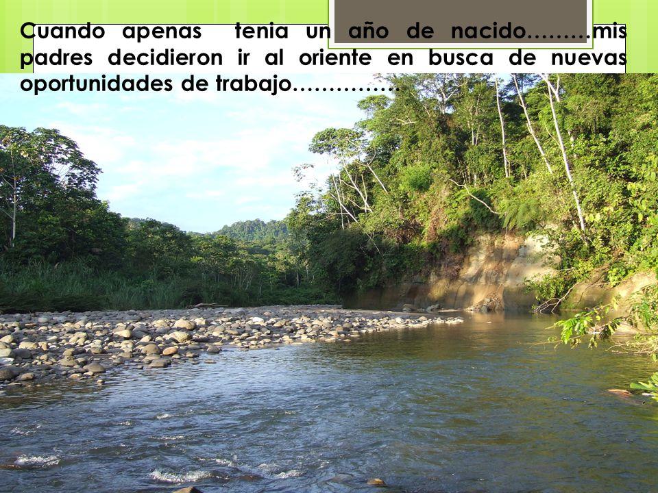 Nací un 20 de noviembre de 1980……. ……en el cantón Muisne, provincia de Esmeraldas.