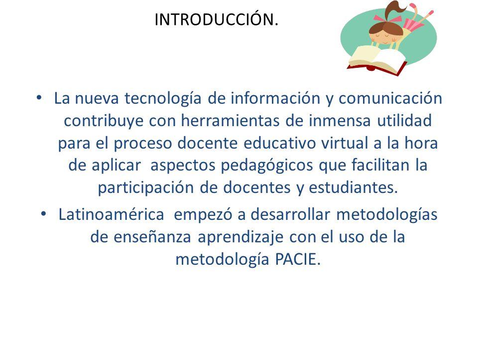 INTRODUCCIÓN. La nueva tecnología de información y comunicación contribuye con herramientas de inmensa utilidad para el proceso docente educativo virt