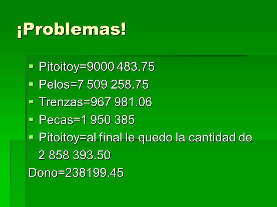 ¡Problemas.