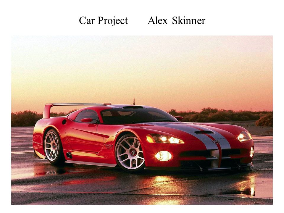 Car Project Alex Skinner