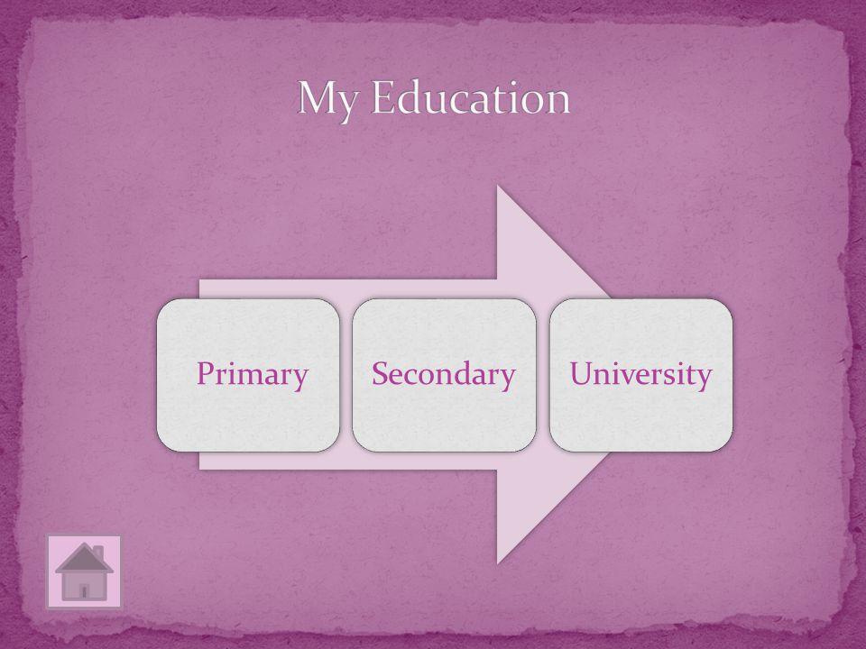 PrimarySecondaryUniversity