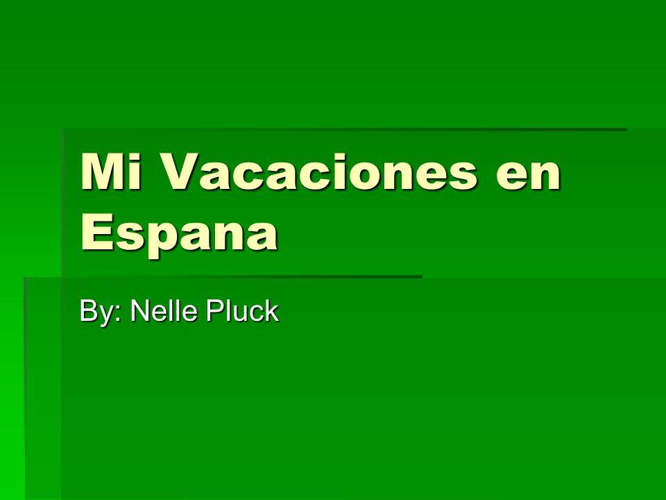 Mi Vacaciones en Espana By: Nelle Pluck