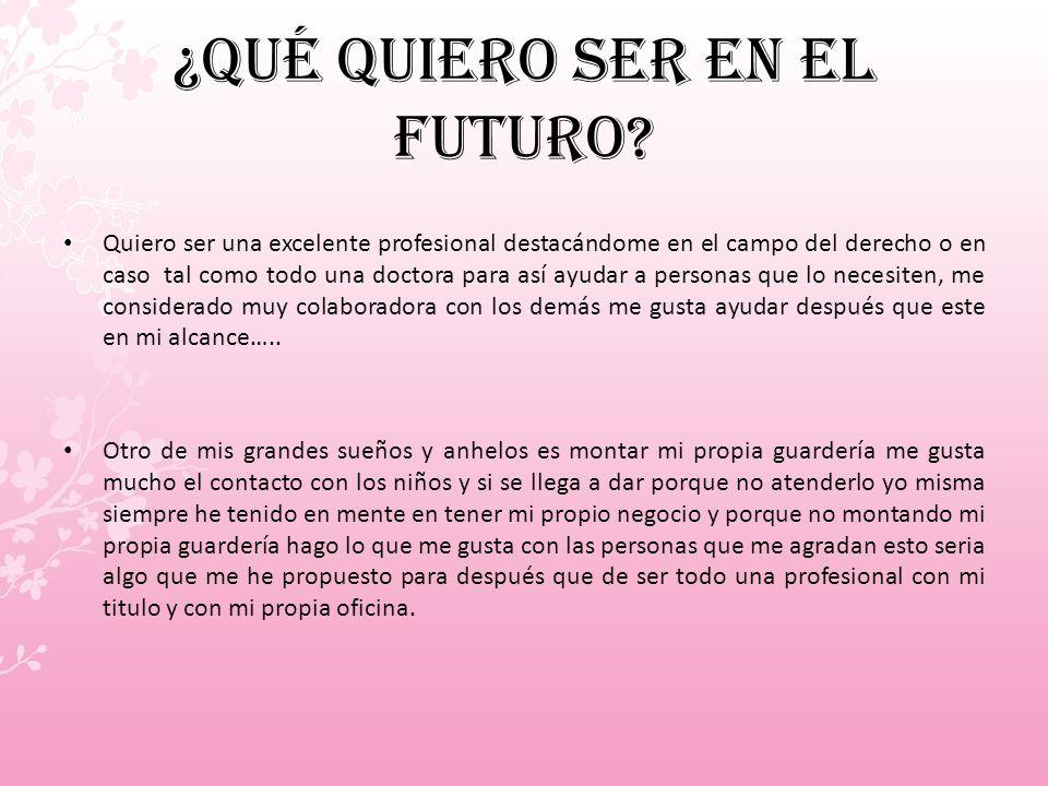 ¿Qué quiero ser en el futuro.