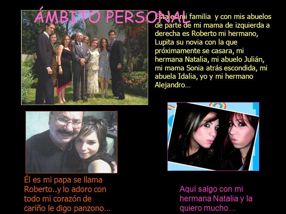 Esta es mi familia y con mis abuelos de parte de mi mama de izquierda a derecha es Roberto mi hermano, Lupita su novia con la que próximamente se casa