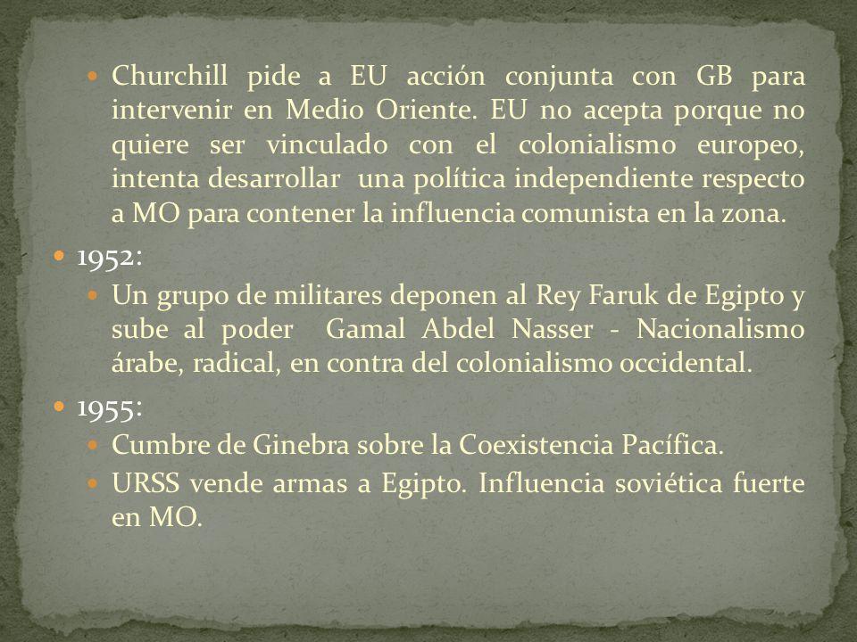 Churchill pide a EU acción conjunta con GB para intervenir en Medio Oriente.