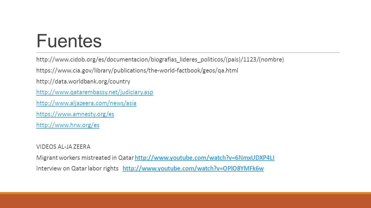Fuentes http://www.cidob.org/es/documentacion/biografias_lideres_politicos/(pais)/1123/(nombre) https://www.cia.gov/library/publications/the-world-fac
