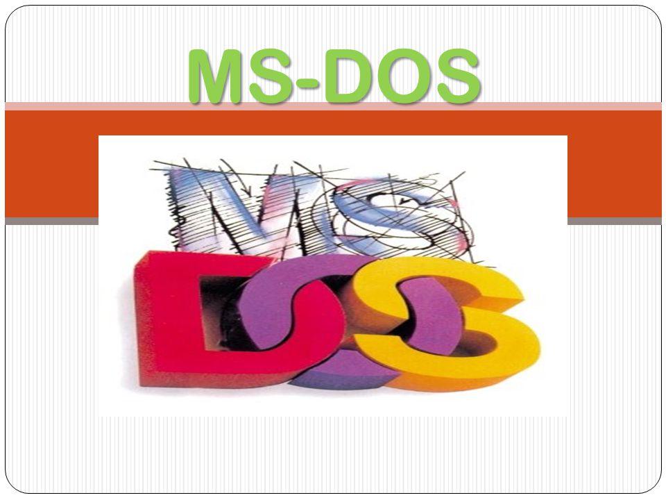 ¿QUE ES MS-DOS.
