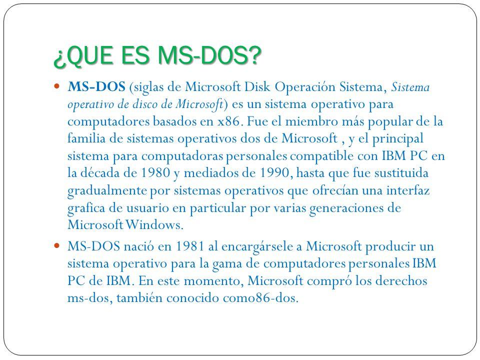 Utilidades principales del ms-dos.