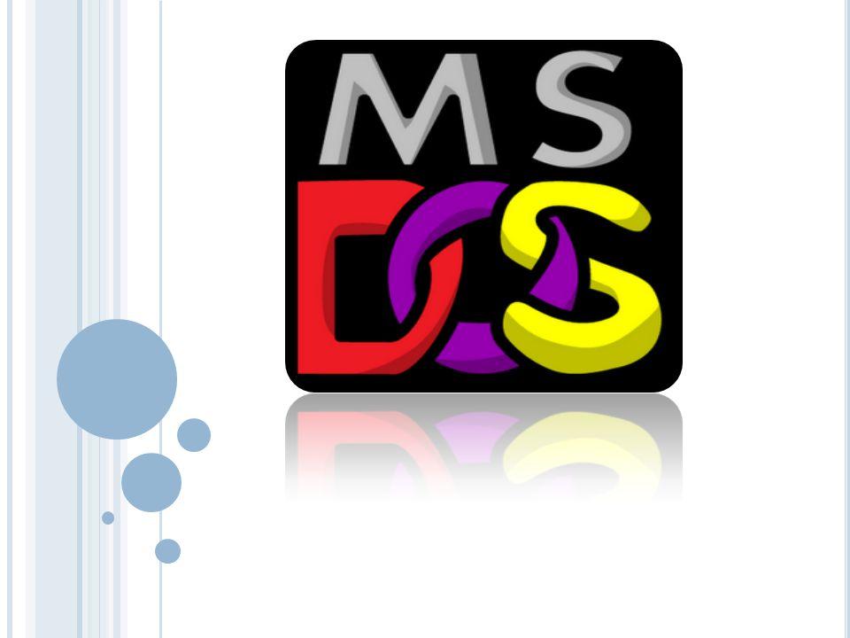 ¿Q UÉ ES UN MS-D OS .