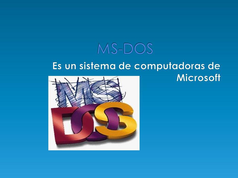 Es un sistema de computadoras.Fue el miembro mas popular des sistemas operativos DOS de Microsoft.