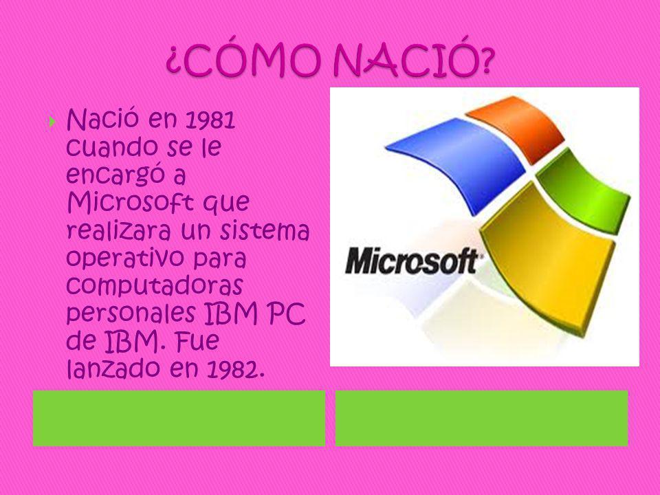 Ningún programa podrá funcionar si no esta presenta el MS-DOS.