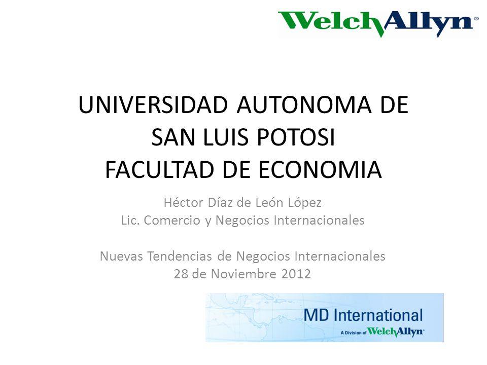 UNIVERSIDAD AUTONOMA DE SAN LUIS POTOSI FACULTAD DE ECONOMIA Héctor Díaz de León López Lic.