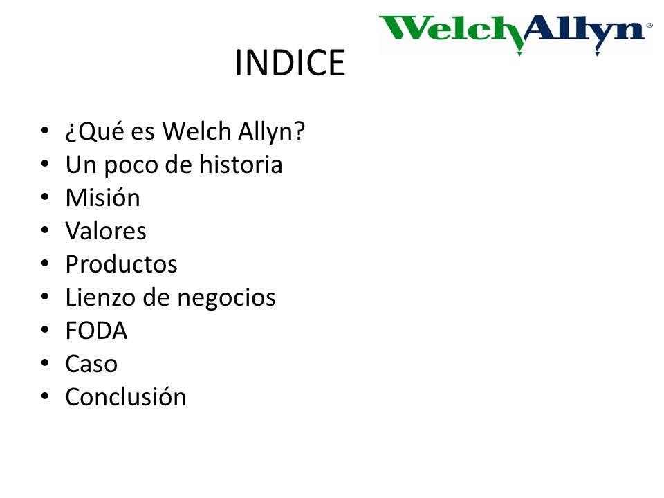 INDICE ¿Qué es Welch Allyn.