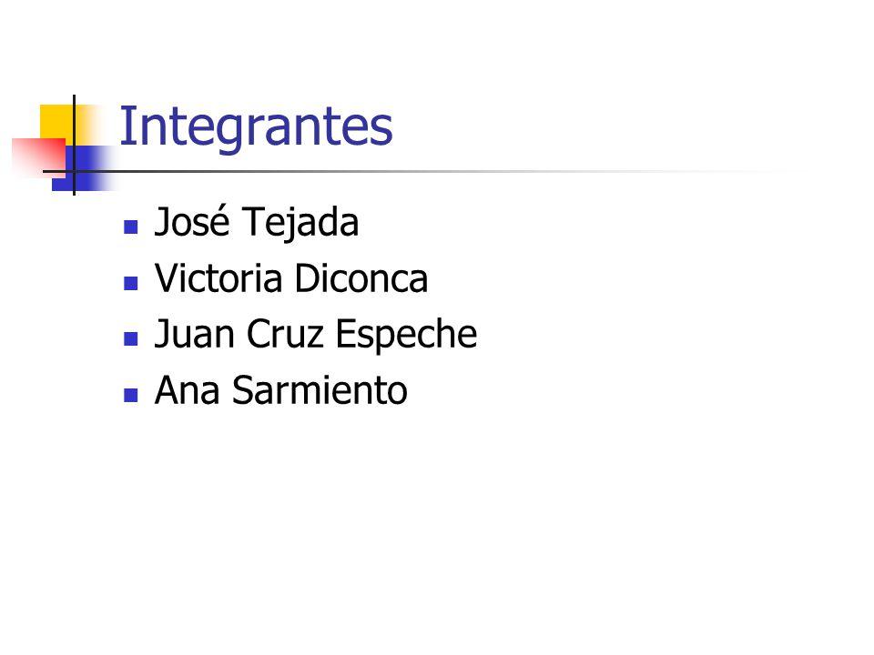 Integrantes José Tejada Victoria Diconca Juan Cruz Espeche Ana Sarmiento