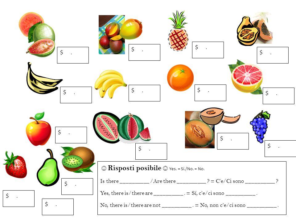 la pera la guava la sandia el plátano la piña la naranja la manzana las uvas el kiwi el mango la banana la toronja el melón la papaya las fresas Directions: Listen as Srta.