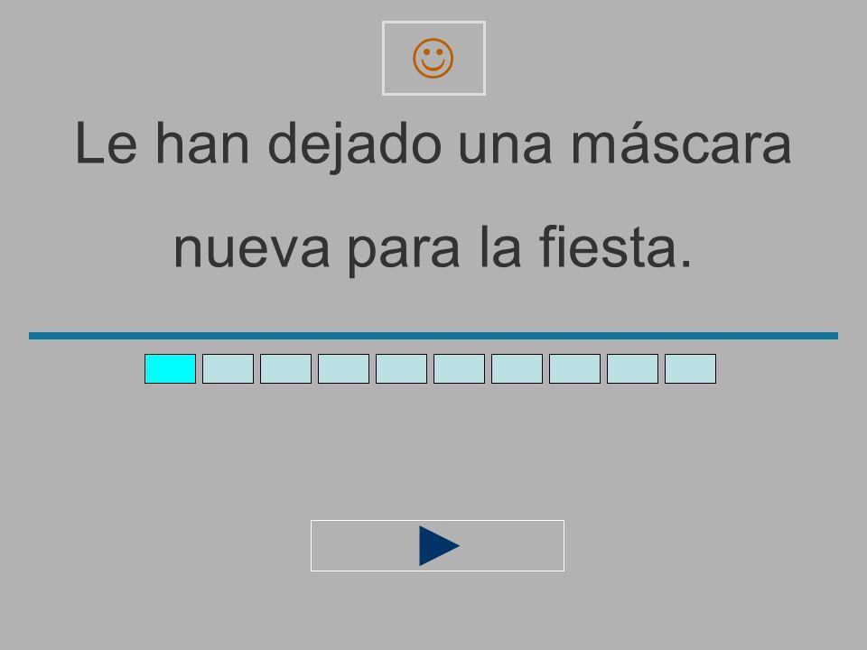 Le_han_dejado_una_máscara_ nueva_para_la_fiest _ z x c v b n m a s d f g h j l ñ ´ q e r t y u i o p