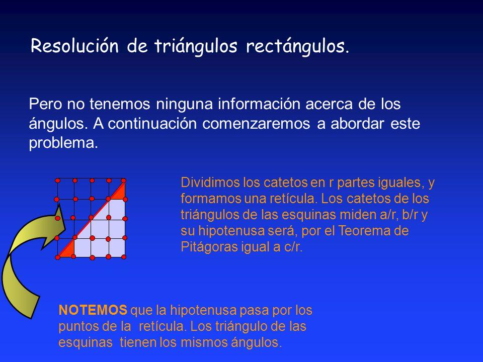 Funciones trigonométricas: tangente y cotangente de un ángulo agudo a a b b c c b/c a/c 1