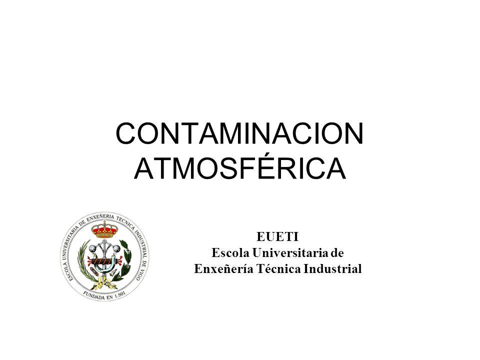 CONTAMINACION ATMOSFÉRICA EUETI Escola Universitaria de Enxeñería Técnica Industrial