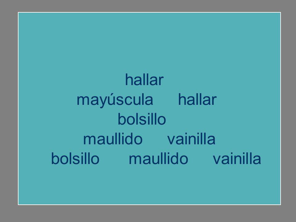 hallar mayúscula buhardilla