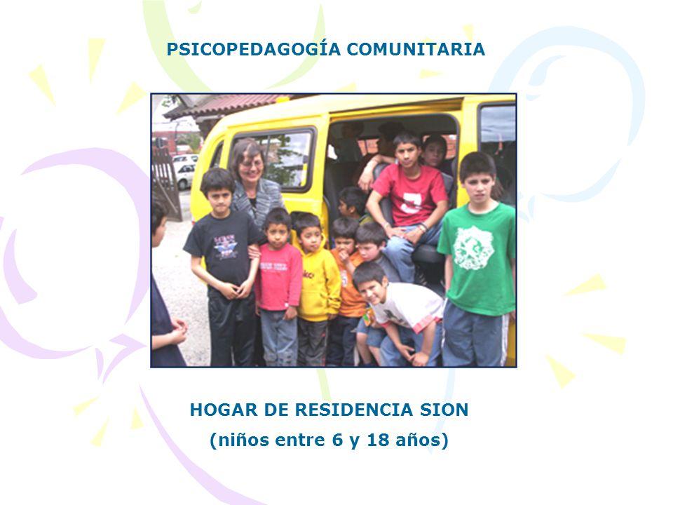 HOGAR DE RESIDENCIA SION (niños entre 6 y 18 años) PSICOPEDAGOGÍA COMUNITARIA