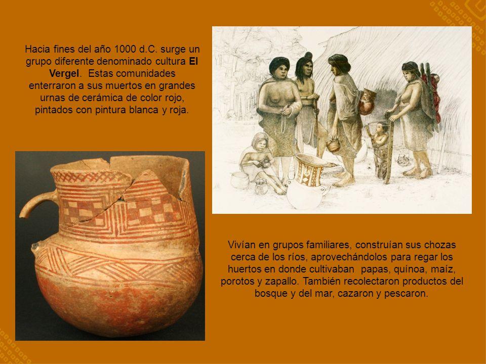 Hacia fines del año 1000 d.C. surge un grupo diferente denominado cultura El Vergel. Estas comunidades enterraron a sus muertos en grandes urnas de ce