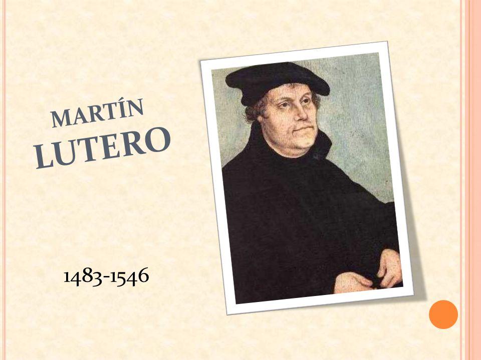 1510 Fue elegido representante de los Monasterios Agustinos en Roma, durante esta visita advierte: - Un clero en decadencia, por la corrupción.