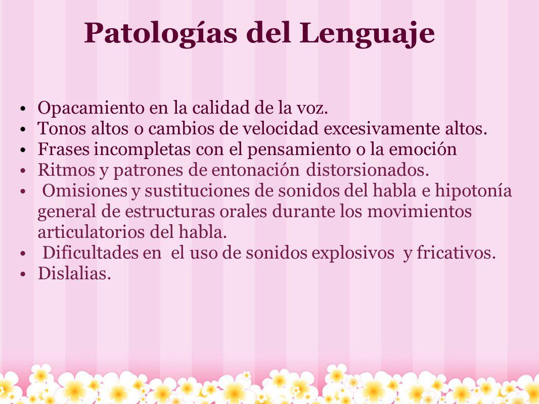 Caracteristicas del habla y del lenguaje Confusión en el orden de las palabras al emitir una oración y de fonemas dentro de las palabras.