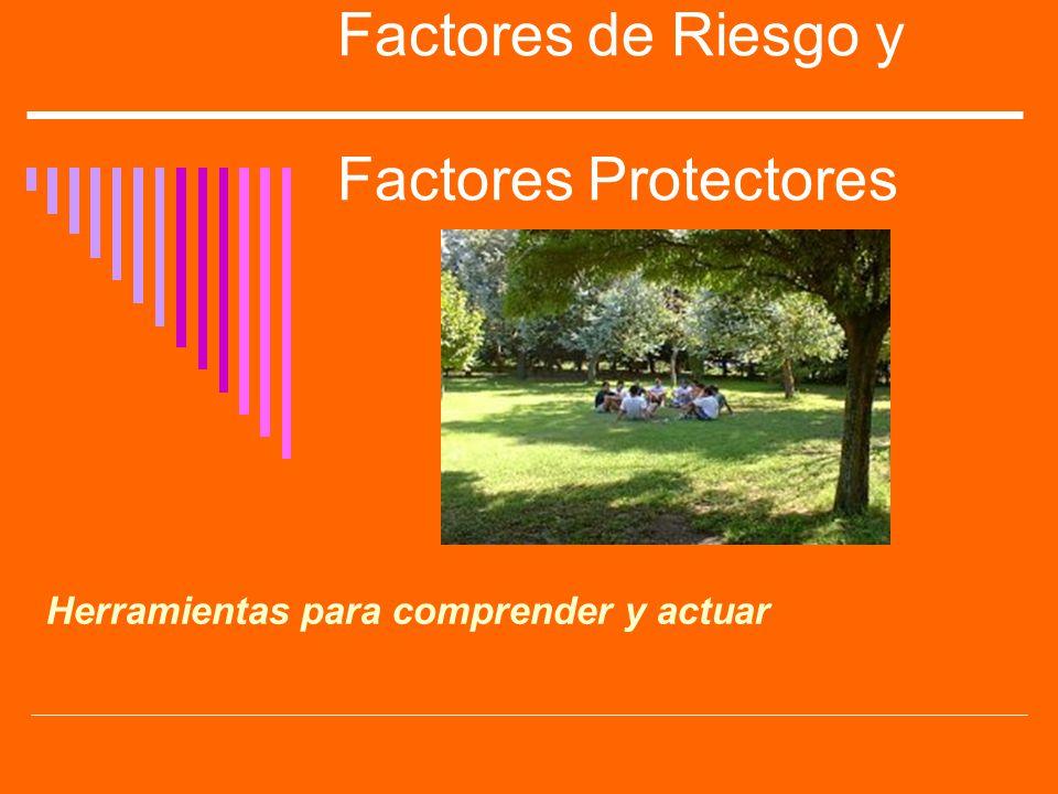 Factores de Riesgo y Factores Protectores Herramientas para comprender y actuar