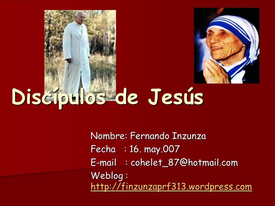 Nombre: Fernando Inzunza Fecha : 16. may.007 E-mail : cohelet_87@hotmail.com Weblog : http://finzunzaprf313.wordpress.com http://finzunzaprf313.wordpr