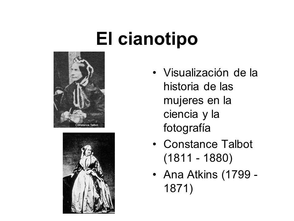 El cianotipo Visualización de la historia de las mujeres en la ciencia y la fotografía Constance Talbot (1811 - 1880) Ana Atkins (1799 - 1871)